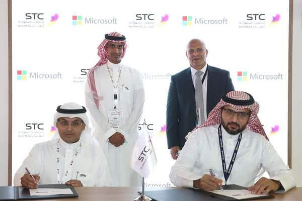 STC حلول توقع اتفاقية شراكة استراتيجية مع مايكروسوفت في جايتكس 2018